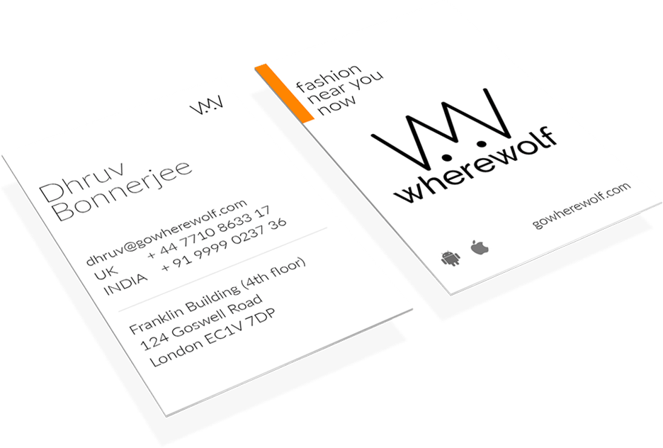Business Cards Design for Wherewolf