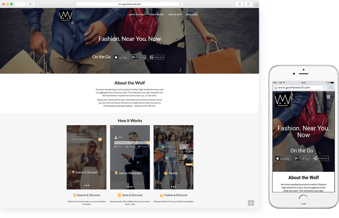 Wherewolf: Responsive Website Design & Development